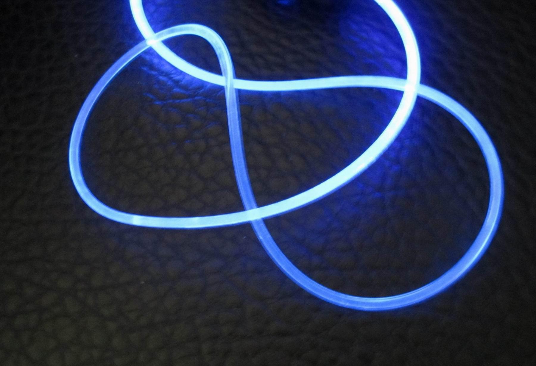 Plastic optical fiber flexible light guide rod led