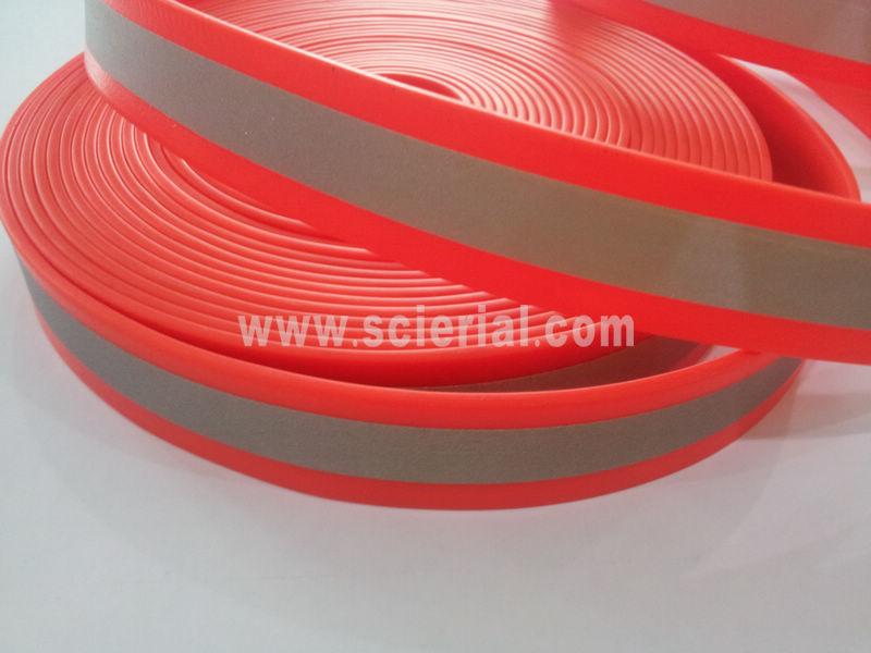 PVC cinta reflectante, reflectante recubierto de PVC correas