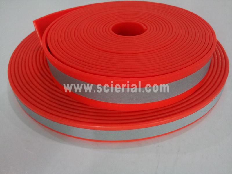 correas de plástico reflectante PVC / TPU recubierto