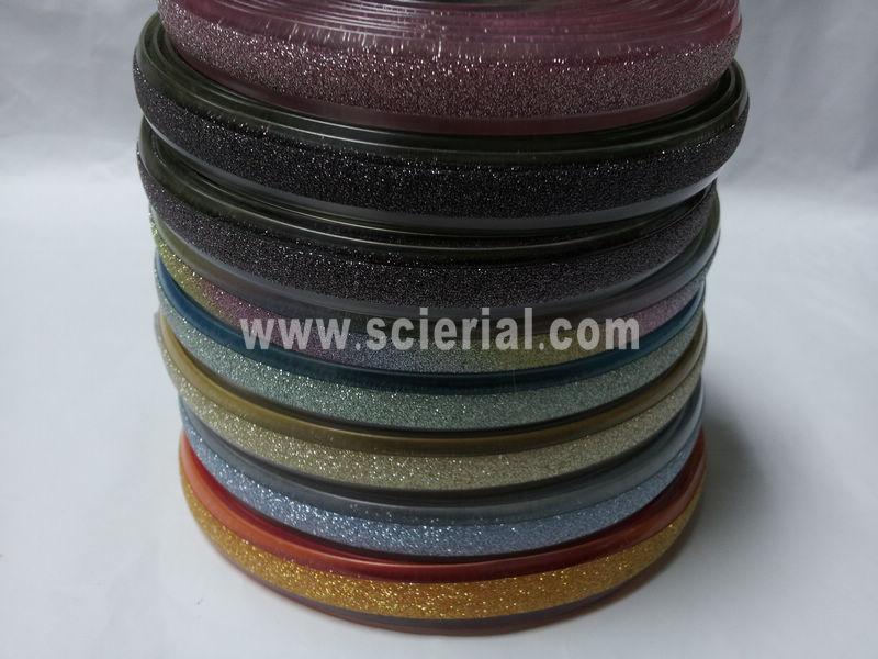 correa de PVC metálico y purpurina embellecido, correa de PVC metálico, zapatos de PVC brillo correa