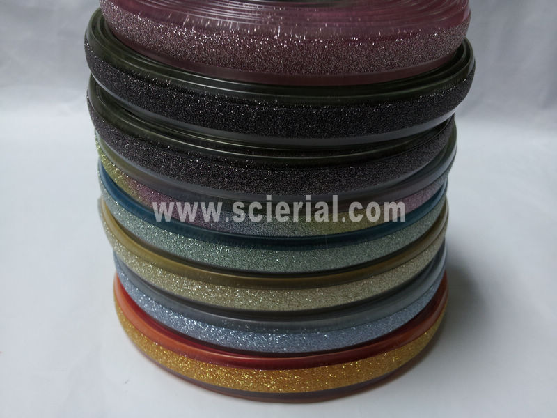 metallic & glitter embellished PVC strap, metallic PVC strap, glitter pvc shoes strap